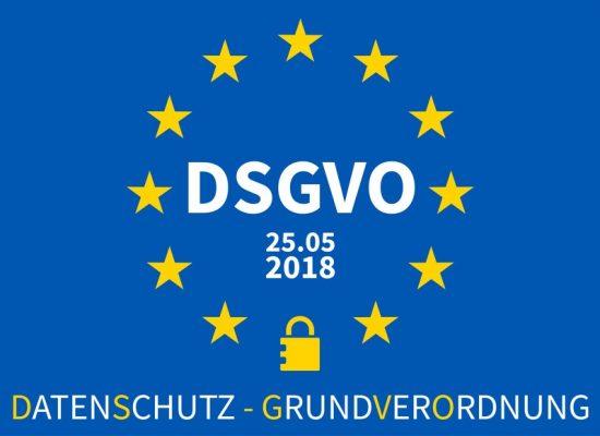 DSGVO Datenschutz-Grundverordnung EU Sterne blau